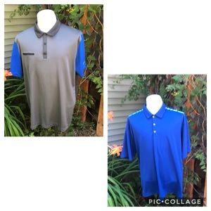 2 Nike Golf Dri-Fit polo shirts. Size XL